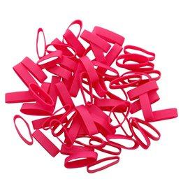 Pink 12 Roze elastiek Lengte 90 mm, Breedte 10 mm