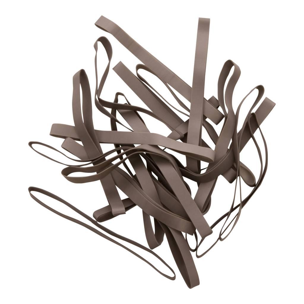 Silver 15 Zilverkleurig elastiek Lengte 140 mm, Breedte 2 mm