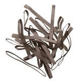 Silver 10 Zilverkleurig elastiek Lengte 90 mm, Breedte 6 mm