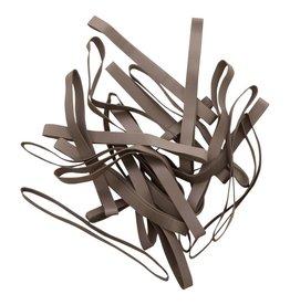 Silver 08 Zilverkleurig elastiek Lengte 90 mm, Breedte 2 mm