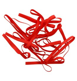 Red 09 Red elastic Length 90 mm, Width 4 mm
