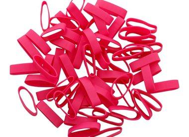 Pink elastic bands