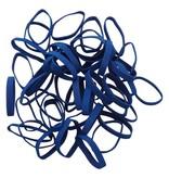 Dark blue 16 Elastique bleu foncé Longueur 140 mm, Largeur 4 mm