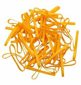 Yellow 04 Geel elastiek Lengte 50 mm, Breedte 8 mm