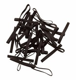 Black 22 Zwart elastiek Lengte 180 mm, Breedte 2 mm