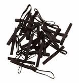 Black 24 Zwart elastiek Lengte 180 mm, Breedte 6 mm