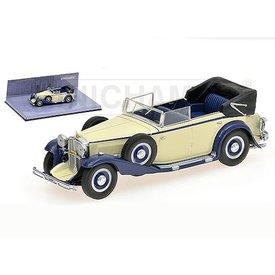 Minichamps Modelauto Maybach Zeppelin 1932 wit/blauw:43 | Minichamps