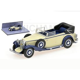 Minichamps Modellauto Maybach Zeppelin 1932 eiß/blau 1:43 | Minichamps