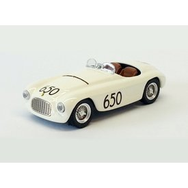 Art Model Modelauto Ferrari 166 MM No. 650 1950 wit 1:43 | Art Model