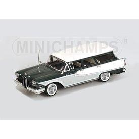Minichamps Modelauto Edsel Bermuda Station Wagon 1958 groen/wit 1:43 | Minichamps