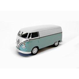 Cararama Modelauto Volkswagen VW T1 Transporter lichtblauw/wit 1:43 | Cararama