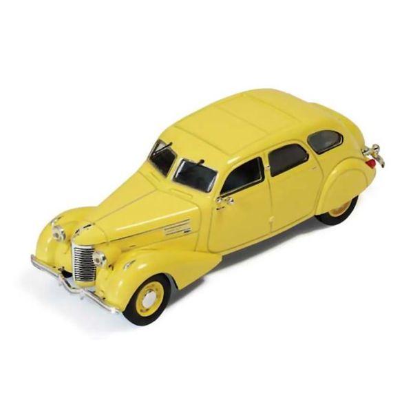 Modelauto Berliet 11CV Dauphine 1939 geel 1:43   Ixo Models