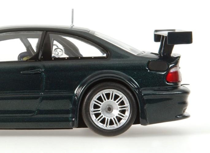model car bmw m3 gtr street 2001 dark green 1 43 minichamps