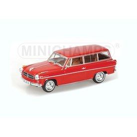 Minichamps Modelauto Borgward Isabella Break 1958 rood 1:43 | Minichamps