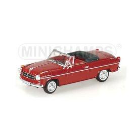 Minichamps Modelauto Borgward Isabella Cabriolet 1959 donkerrood 1:43 | Minichamps