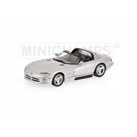 Minichamps Modelauto Dodge Viper Cabriolet 1993 zilver 1:43 | Minichamps