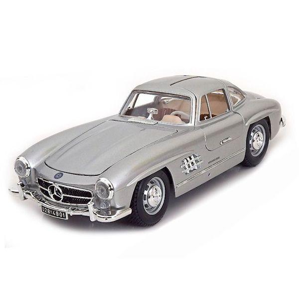 Modelauto Mercedes Benz 300 SL Coupe 1954 zilver 1:18 | Bburago
