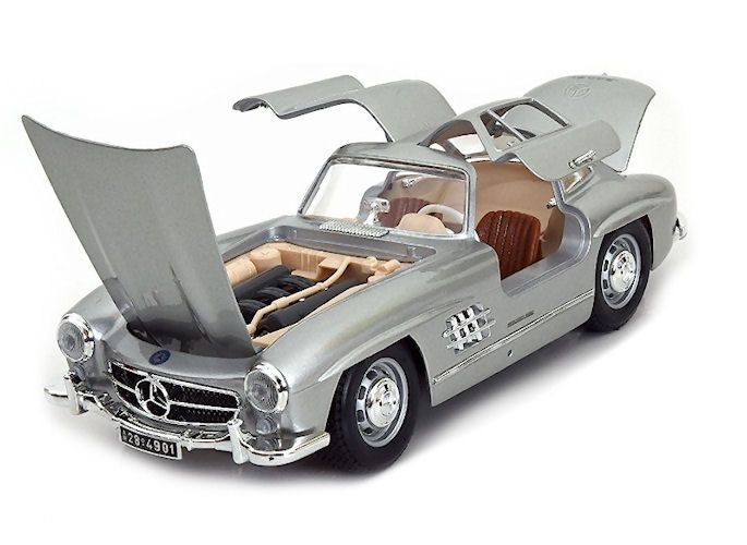 model car mercedes benz 300 sl coupe 1954 silver 1 18 bburago. Black Bedroom Furniture Sets. Home Design Ideas