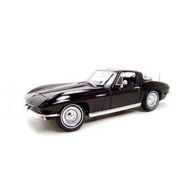 Maisto Modelauto Chevrolet Corvette 1965 zwart 1:18 | Maisto