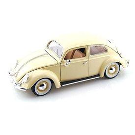 Bburago Modellauto Volkswagen VW Käfer 1955 creme 1:18 | Bburago