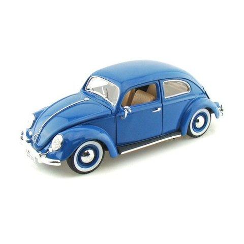 Modelauto Volkswagen VW Kever 1955 blauw 1:18 | Bburago