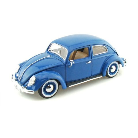 model car volkswagen vw beetle 1955 blue 1 18 bburago. Black Bedroom Furniture Sets. Home Design Ideas
