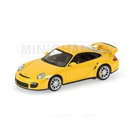 Minichamps Modelauto Porsche 911 GT2 2007 geel 1:43 | Minichamps