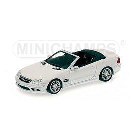 Minichamps Model car Mercedes Benz SL55 AMG (R270) 2006 white 1:43   Minichamps