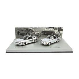 Minichamps Porsche 911 Targa chroom set 1966 / 2006 1:43 | Minichamps