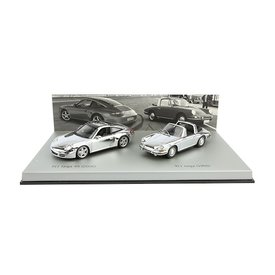 Minichamps Porsche 911 Targa Chroom set - 1966 / 2006 - 1:43