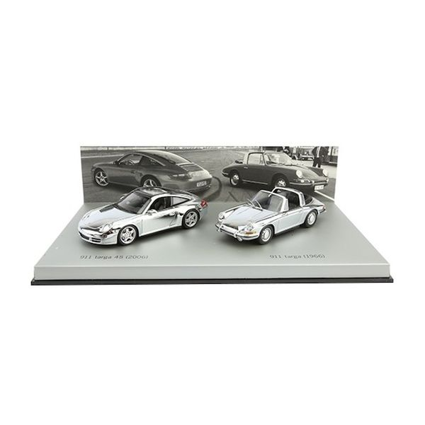 Porsche 911 Targa chroom set 1966 / 2006 1:43 | Minichamps