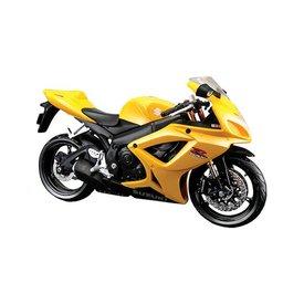 Maisto Modelmotor Suzuki GSX-R 600 geel 1:12 | Maisto
