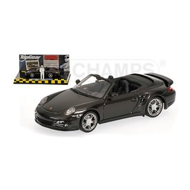 Minichamps Modellauto Porsche 911 Turbo (997 II) Cabriolet 2009 grau metallic 1:43 | Minichamps