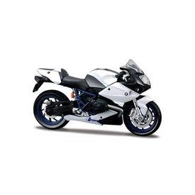 Maisto Modell-Motorrad BMW HP2 Sport weiß/schwarz 1:18 | Maisto