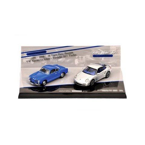 Modellauto Porsche 911 Turbo & Volkswagen VW Karmann Ghia Coupe | Minichamps