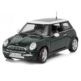 Maisto Model car Mini Cooper with sunroof dark green 1:18   Maisto