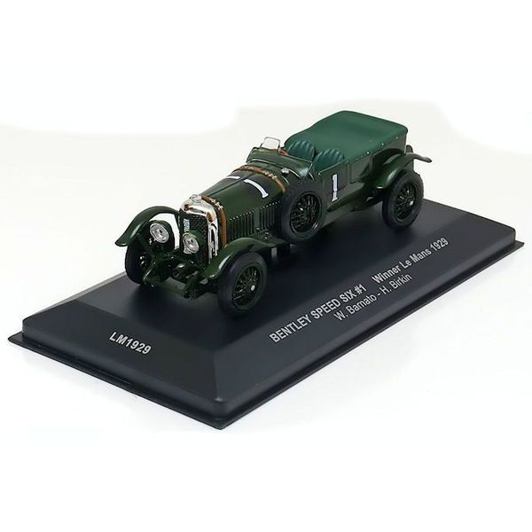 Modelauto Bentley Speed Six No. 1 1929 groen  1:43 | Ixo Models