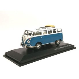 Yat Ming / Lucky Diecast Modellauto Volkswagen VW T1 Microbus 1962 blau/weiß 1:43 | Yat Ming / Lucky Diecast