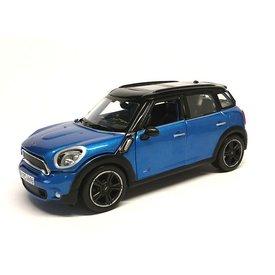 Maisto Modelauto Mini Countryman 2011 blauw/zwart 1:24 | Maisto