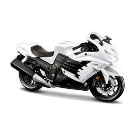 Maisto Modell-Motorrad Kawasaki Ninja ZX-14R 2012 weiß/schwarz 1:12 | Maisto