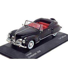 WhiteBox Modelauto Lincoln Continental 1939 zwart 1:43 | WhiteBox