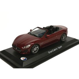 WhiteBox Modelauto Maserati GranCabrio Sport donkerrood 1:43 | WhiteBox