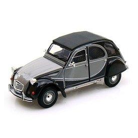 Welly Modelauto Citroën 2CV 6 Charleston grijs/zwart 1:24 | Welly