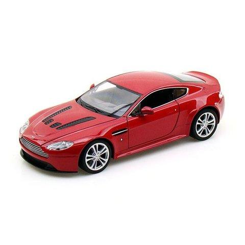 Modelauto Aston Martin V12 Vantage rood 1:24 | Welly