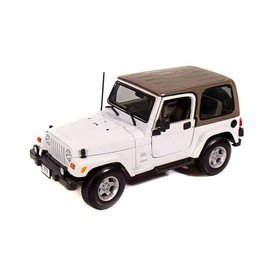 Maisto Modellauto Jeep Wrangler Sahara hardtop weiß 1:18 | Maisto