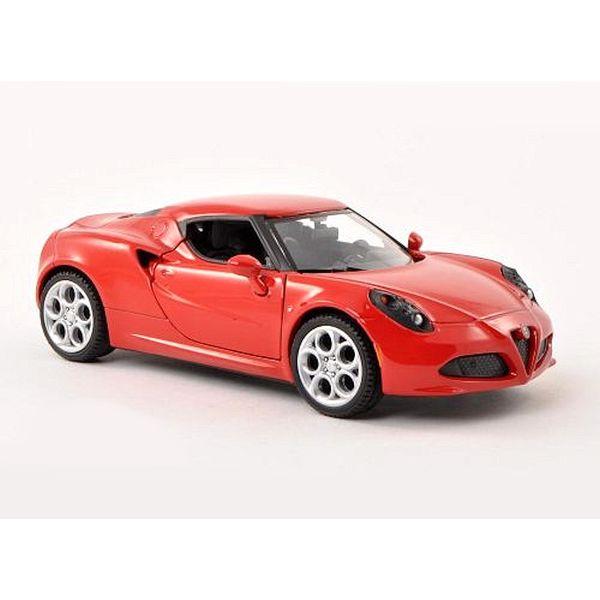Modelauto Alfa Romeo 4C rood 1:24