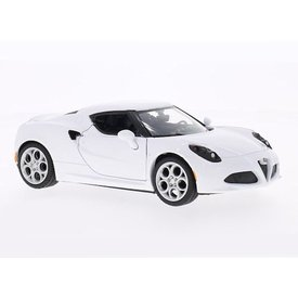 Motormax Model car Alfa Romeo 4C white 1:24 | Motormax