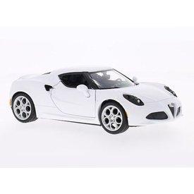Motormax Modelauto Alfa Romeo 4C wit 1:24 | Motormax
