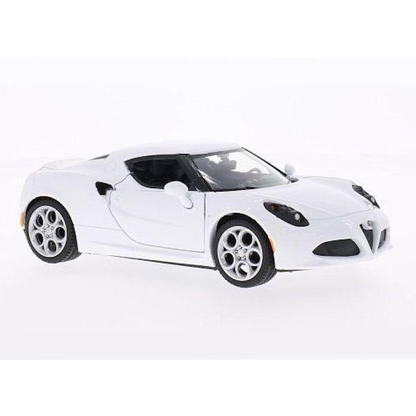 Modelauto Alfa Romeo 4C wit 1:24   Motormax