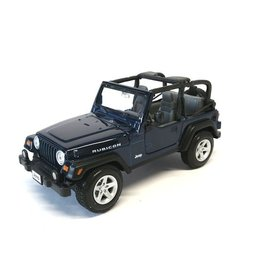 Maisto Modellauto Jeep Wrangler Rubicon dunkelblau 1:27 | Maisto